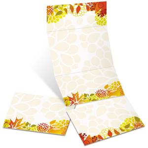 Leaf Gallery Fold-Up Invitations