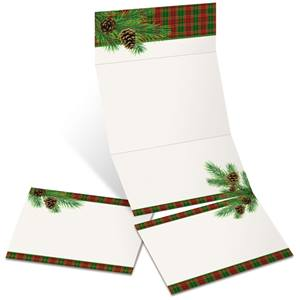 Traditional Plaid Fold-Up Invitations
