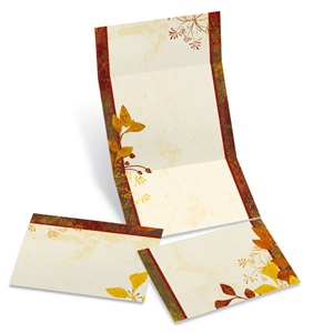 Autumn's Garden Fold-Up Invitation
