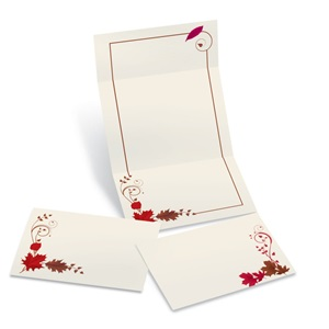 Mahogany Rouge Fold-Up Invitations