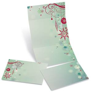 Seasons Silhouette Fold-Up Invitations