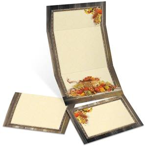 Autumn Treasures Fold-Up Invitations
