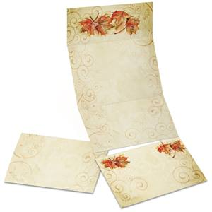 Vintage Fall Fold-Up Invitations