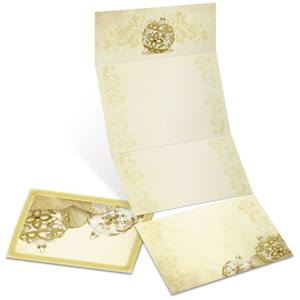 Golden Filigree Fold-Up Invitations