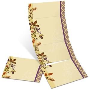Autumn Accents Fold-Up Invitations