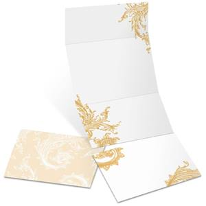 Vintage Filigree Fold-Up Invitations