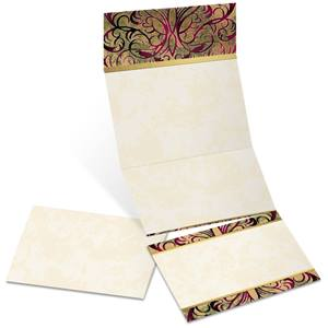 Marquetry Fold-Up Invitations
