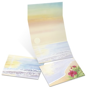 Floral Sunset Fold-Up Invitations