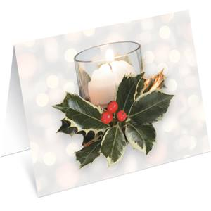 Shimmering Votives Holiday Notecards