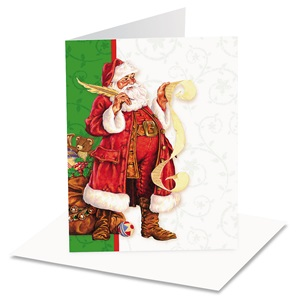 Classic Santa Christmas Notecards