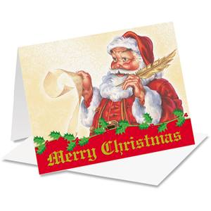 Old Fashioned Santa Notecards