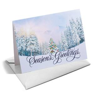 Frosted Trees Shimmer NoteCards