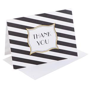 Stripes Galore Thank You Note Cards