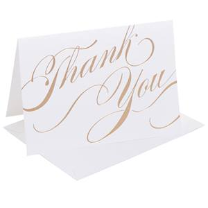 Gold Unending Gratitude Thank You Note Cards