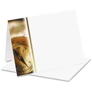 Compass Brass Notecards