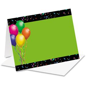 Balloons Confetti Notecards