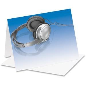 Headphones Notecards