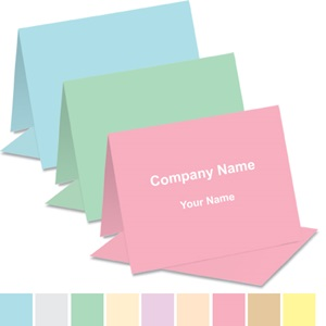 Pastel Custom Colors Note Cards