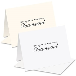 Elegant Note Personalized Notecards