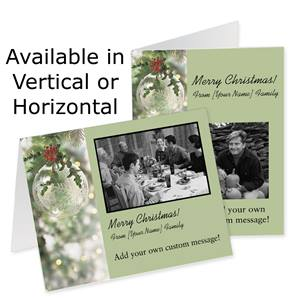 Crystal Brilliance Holiday Photo Note Cards