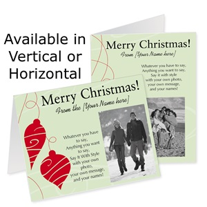 Dazzling Delight Holiday Photo Note Cards