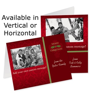Vintage Christmas Holiday Photo Note Cards