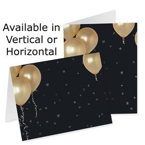 Gold Balloons Photo Note Cards
