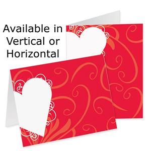 Heart Shaped Wishes Photo Note Cards