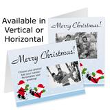 Ice Skating Party Holiday Photo Note Cards