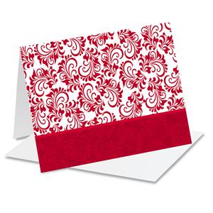Red and White Holiday Photo Note Cards