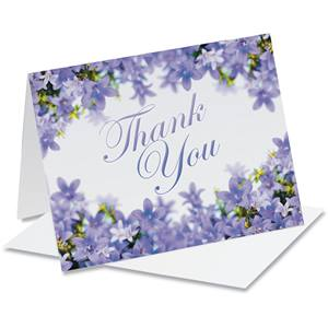 Purple Parade Thank You Notecards