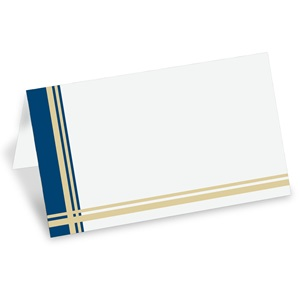 Tattersall Blue Folded Place Cards