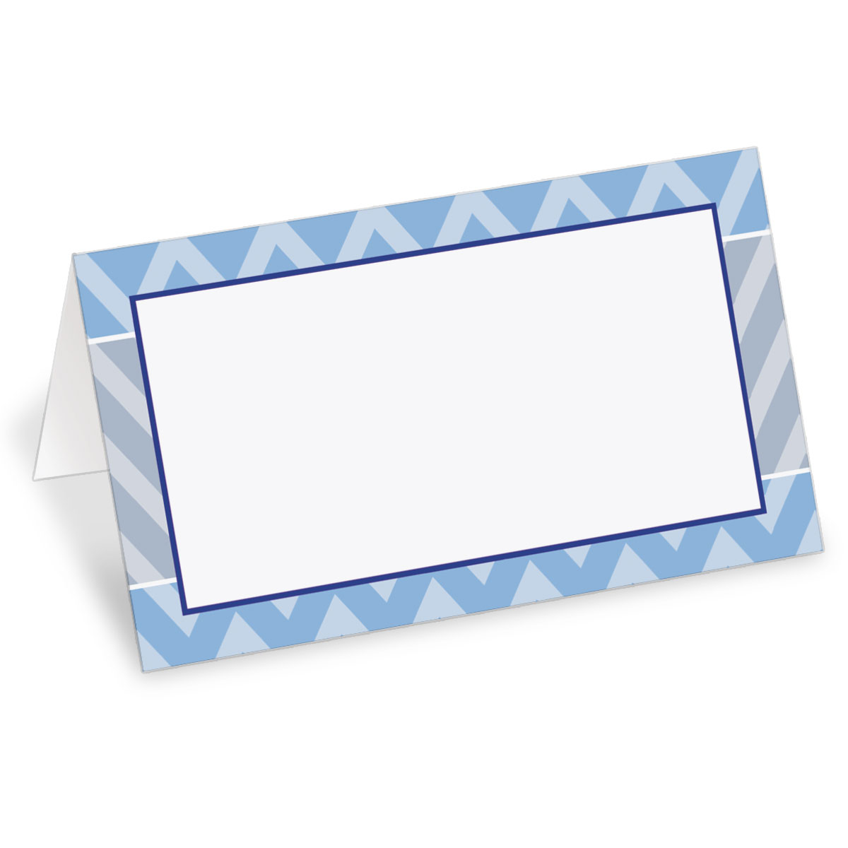 chevron folded place cards - Folded Place Cards