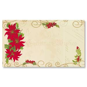 Noel Collage Flat Place Cards