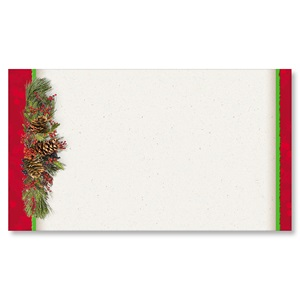 Christmas Swag Flat Place Cards