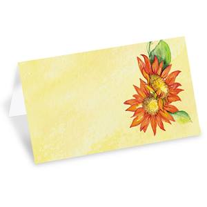 Autumn Sunflowers Folded Place Cards