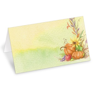 Fall Fruits Folded Place Cards