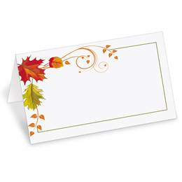 Fall Freshness Folded Place Cards