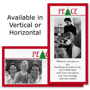 "Peace Holiday 4""x8"" Photo Cards, Studio Cards"
