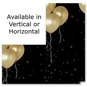 "Gold Balloons 4""x8"" Photo Cards, Studio Cards"