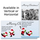 "Ice Skating Party Holiday 4""x8"" Photo Cards, Studio Cards"