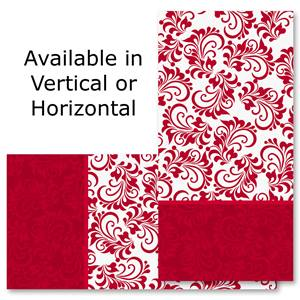 "Red and White Holiday 4""x8"" Photo Cards, Studio Cards"