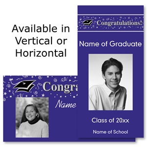 "Congratulations Graduate 4""x8"" Photo Studio Cards"