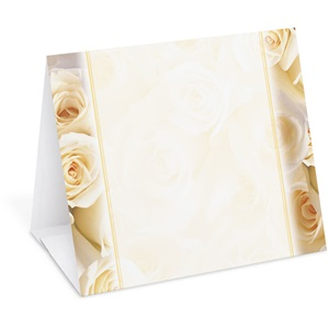 Cream Roses Table Tents