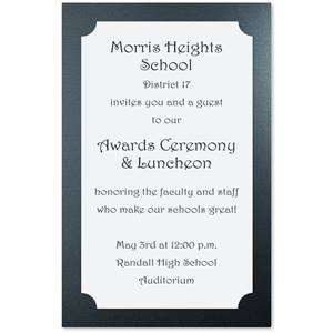 Modest Black Specialty Layered Invitations