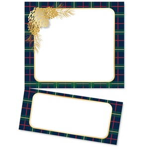 Plaid and Pinecones LetterTop Certificates