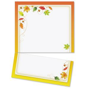 Scattered Leaves LetterTop Certificates