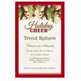 Holly Christmas Party Invitations