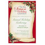 Christmas Scroll Party Invitations