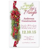 Tartan Sleigh Bells Party Invitations